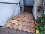 Düsseldorf: Gartentreppe mit Steinteppich M1001 gespachtelt