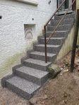 Witten: Außentreppe mit Kunststoff abgedichtet und mit Steinteppich M1001 beschichtet