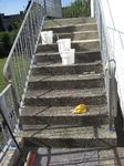 Siegen: Waschbetontreppe mit Colorquarz M1001: