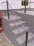 Hemer: Terrassenabdichtung mit Treppe in Colorquarz M1005