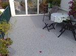 Hemer: Terrassensanierung mit  Natursteinteppich in Quarz M 1005